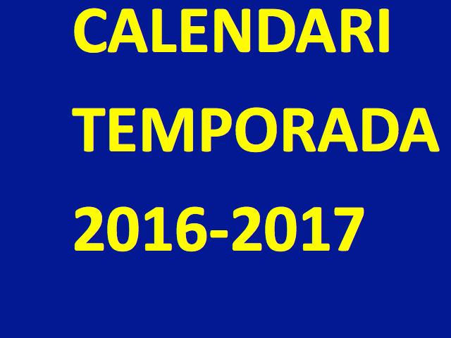 Calendari Final temporada 13/14